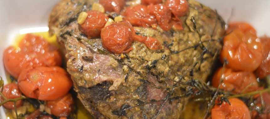 Festive One Pot Roast Beef with Tomatoes!