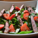 Strawberry, Steak & Super Seed Summer Salad