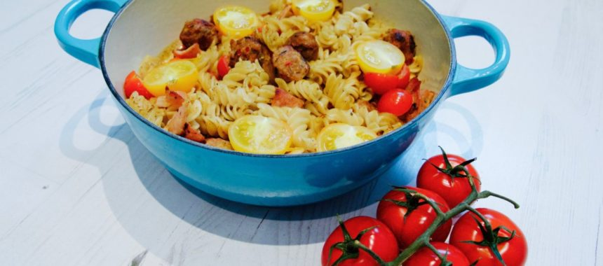 All Day Breakfast Rizopia Pasta Bake