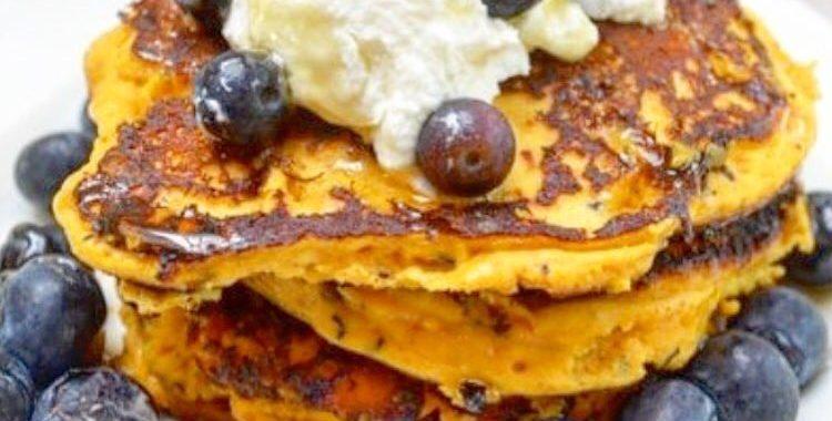Sweet potato protein pancakes!