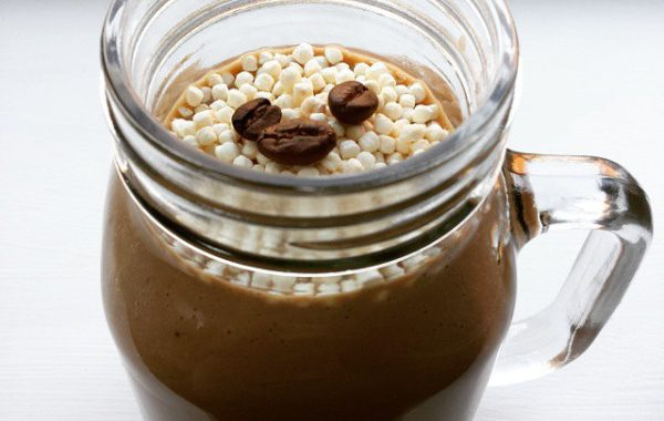 Iced protein hazelnut mocha latte